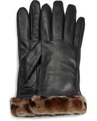 UGG - Classic Leather Shorty Tech Handschoenen - Lyst