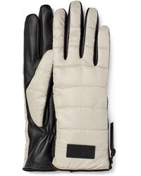 UGG Fabric Gloves With Zipper Extreme Cold Weather Gloves - White