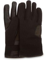UGG Fabric And Leather Handschoenen - Zwart