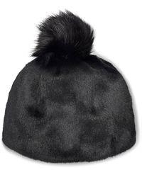 UGG Faux Fur Beanie With Pom - Zwart