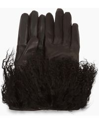 UGG - Women's Leather Mongolian Glove - Lyst