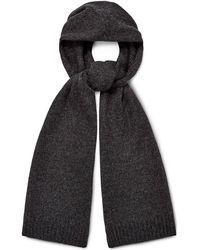UGG Eastwood Rib Knit Scarf Cashmere - Black