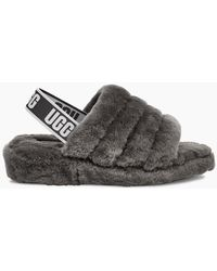 UGG Slingback Wooly Slippers - Gray