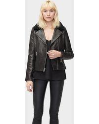 UGG Andee Leather Cycle Jacket - Zwart