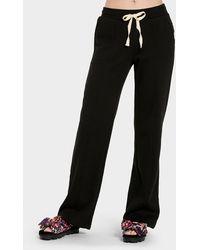 UGG Shannon Fleece Trousers Cotton Blend Bottoms - Black