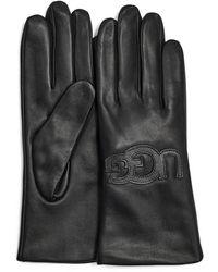 UGG Leren Logo Handschoen - Zwart