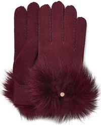 UGG Long Pile Bow Handschoenen - Paars