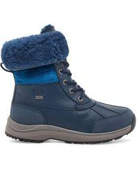 UGG Adirondack Iii Velvet Croc Leather - Blue