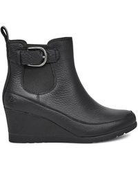 UGG Arleta Warme Stiefel aus Leder - Schwarz