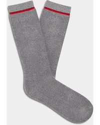 UGG Kyro Cozy Crew Sock Bamboo Rayon Socks - Gray