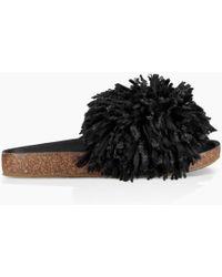 59097cb3c4ff Dolce   Gabbana Cindy Lace Flat in Black - Lyst