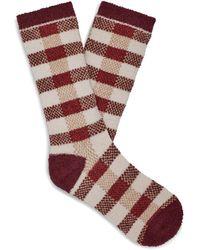UGG Malcolm Check Crew Sock Polyester Socks - Multicolor