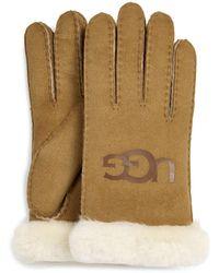 UGG Sheepskin Logo Handschoenen - Bruin
