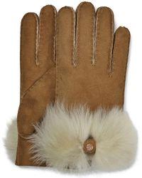 UGG Long pile bow gants pour - Marron