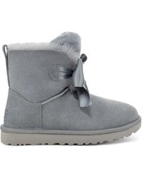 UGG Gita Bow Mini Boot - Gray
