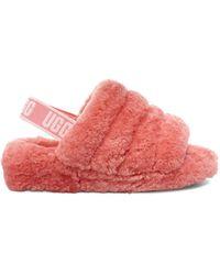 UGG Fluff Yeah Slide Sandalen für - Pink