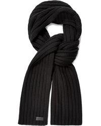 UGG Diagonal Ribbed Stripe Schal für - Schwarz