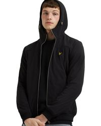 Lyle & Scott Softshell Lightweight Hooded Jacket - Black