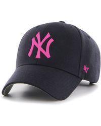 47 Brand - Mlb New York Yankees '47 Mvp Adjustable Velcro Strap Baseball Cap - Lyst