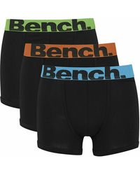 Bench Action 3 Pack Trunk Boxer Shorts - Black