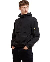 Lyle & Scott 1/4 Zip Popover Jacket - Black