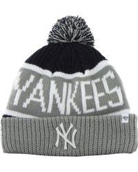 0bfbecd2 47 Brand - New York Yankees '47 Calgary Knitted Bobble Beanie Hat - Lyst