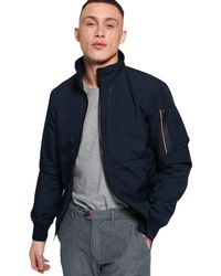 Superdry Moody Light Bomber Jacket - Blue