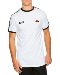 Ellesse - Fede Taped T-shirt White - Lyst