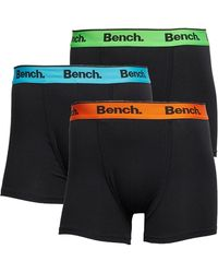 Bench Barnes 3 Pack Trunk Boxer Shorts - Black