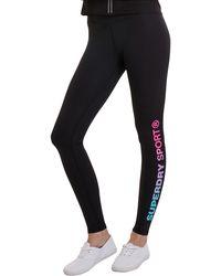 Superdry Sd Sport Essential Logo Leggings - Black