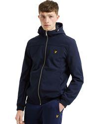 Lyle & Scott Softshell Lightweight Hooded Jacket - Blue