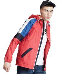 64a216707 Colourblock Windrunner Lightweight Jacket - Red