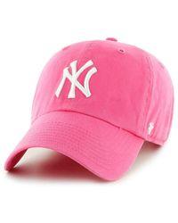47 Brand - Mlb New York Yankees '47 Clean Up Adjustable Baseball Cap - Lyst