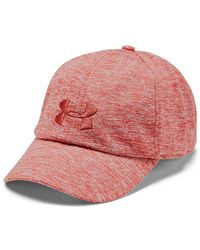 latest fashion official shop wide range Under Armour Women's Mlb Armour Cap in Red/Red (Red) - Lyst