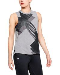 Under Armour - Women's Ua Overlay Logo Muscle Tank - Lyst
