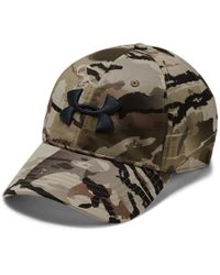 6e6ea9ddd Under Armour Camo Stretch Fit Hat for Men - Lyst