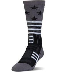 Under Armour Men's Ua Unrivaled Stars & Stripes Crew Socks - Black