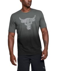 Under Armour Project Rock Bull Graphic Tee Black - Gray