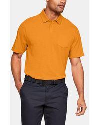 Under Armour Men's Charged Cotton® Scramble Polo - Orange