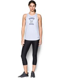 f78ad36064bba Lyst - Under Armour Women s Tampa Bay Rays Ua Techtm Mesh Tank in Black