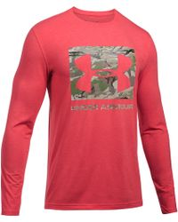 Under Armour - Men's Ua Camo Knockout Long Sleeve T-shirt - Lyst