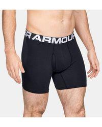 Under Armour Bóxer Charged Cotton® de 15 cm Boxerjock® para hombre – Paquete de 3 - Negro