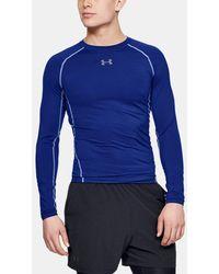 Under Armour Ua Heatgear® Armour Long Sleeve Compression Shirt - Blue