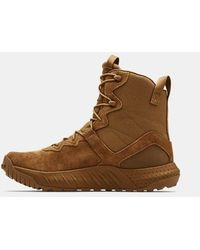 Under Armour Ua Micro G® Valsetz Leather Tactical Boots - Brown
