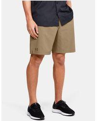Under Armour Men's Ua Motivator Vented Coach's Shorts - Brown