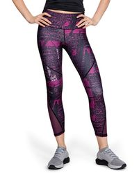 Under Armour - Heatgear Armour Mesh Printed Ankle Crop - Lyst