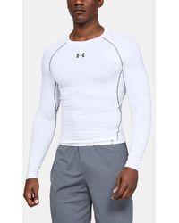 Under Armour Men's Heatgear® Long-sleeve Compression Shirt - White