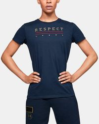 Under Armour Women's Ua Freedom X Project Rock Short Sleeve - Blue