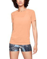 1530fe7495 Lyst - Under Armour Stripe Logo Active Top in Blue