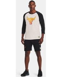Under Armour Project Rock Bsr 3⁄4 Sleeve - White